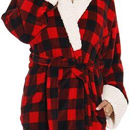 Just Love Sherpa Trim Plush Robe for Women | Amazon (US)