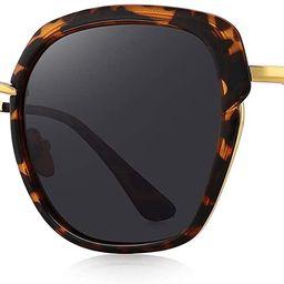 OLIEYE Vintage Oversized Shield Frame Women's Polarized Sunglasses Holiday Sunglasses for Women w... | Amazon (US)