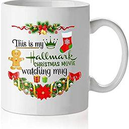 This Is My Hallmark Christmas Movie Watching Mug, Funny Coffee Mugs Birthday Holiday Gifts For Wo... | Amazon (US)