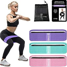 Gymbee 3 Fabric Resistance Bands for Legs and Butt, Loop Exercise Bands, Booty Workout Bands for ... | Amazon (US)