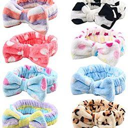 Bow Hair Band, Soft Carol Fleece Hairlace Headband Turban Bowknot Bow Makeup Shower Headbands Hea... | Amazon (US)