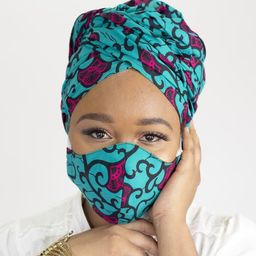 African Print Head Wrap and Mask, Ankara Head Scarf with Face Mask, African Head Tie for Women, G... | Etsy (US)