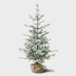 3.5ft Unlit Potted Flocked Balsam Fir Artificial Tree - Wondershop™ | Target