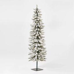 5ft Pre-lit Flocked Alpine Artificial Christmas Tree Clear Lights - Wondershop™ | Target