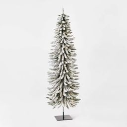 7ft Pre-lit Flocked Slim Alpine Artificial Christmas Tree Clear Lights - Wondershop™ | Target