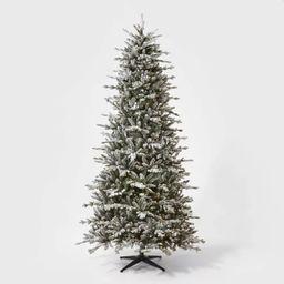 9ft Pre-lit  Artificial Christmas Tree Full Flocked Balsam Fir Clear Lights - Wondershop™ | Target