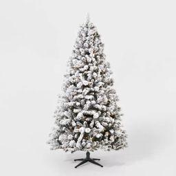 7ft Pre-Lit Flocked Douglas Fir Artificial Tree Clear Lights with AutoConnect - Wondershop™ | Target