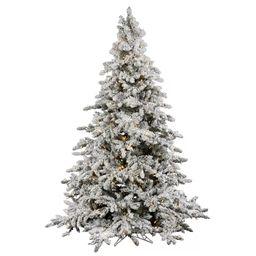 Vickerman Flocked Utica Fir Artificial Christmas Tree | Target
