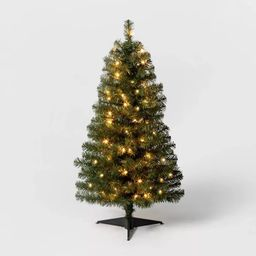3ft Pre-Lit  Alberta Spruce Clear Lights Artificial Christmas Tree - Wondershop™ | Target