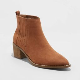 Women's Briar Block Heeled Bootie - Universal Thread™ | Target