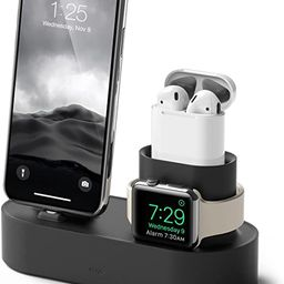 elago 3 in 1 Apple Charging Station Compatible with Apple Watch Series 6/SE/5/4/3/2/1, Apple AirP... | Amazon (US)