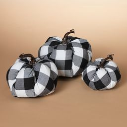The Gerson Company Collectibles and Figurines - Black & White Buffalo Check Pumpkins Harvest Decor - | Zulily