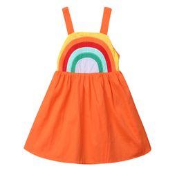 Summer Toddler Kids Baby Girls Clothes Sleeveless Rainbow Dress Sundress 1-5Y | Walmart (US)