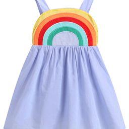 Dewadbow Toddler Kids Baby Girls Clothes Sleeveless Rainbow Dress Sundress | Walmart (US)