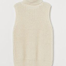 ConsciousNew Arrival Relaxed-fit, sleeveless, turtleneck sweater in soft, rib-knit fabric with w... | H&M (US)