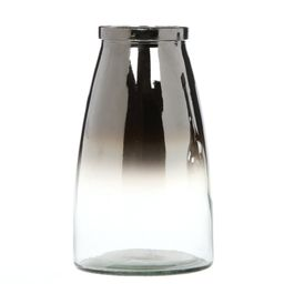 """Elegant Expressions by Hosley 10"""" H Ombre Silver Glass Vase, 1 Each   Walmart (US)"""