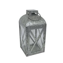Mainstays Medium Galvanized Metal Candle Holder Lantern   Walmart (US)
