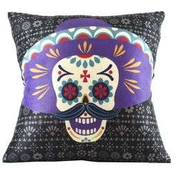 Mainstays Dia de los Muertos Printed Decorative Pillow Cover   Walmart (US)