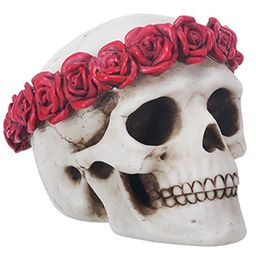 4.5 Inch Day of The Dead Flower Traditional Sugar Skull Display Statue   Walmart (US)