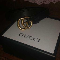 Fashion Belt Men Cowskin Leather Women Belt Female Belts Solid Smooth Big Gold Buckle Width 2.0/3... | DHGate