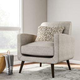 Carson Carrington Keflavik Mid-century Dove Grey Linen Arm Chair | Overstock