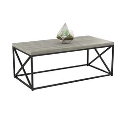 Cozy Home Grey Wood Coffee Table | The Home Depot