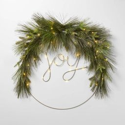 LIT LED JOY Wreath - Wondershop™   Target