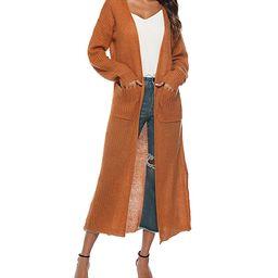 KeepKool Women's Dusters - Orange Waffle-Knit Pocket Duster - Women | Zulily
