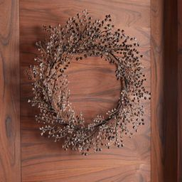 Pine Chip Brown Wreath + Reviews   Crate and Barrel   Crate & Barrel