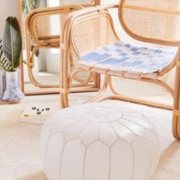 Traditional Leather Floor Pouf | Urban Outfitters (US and RoW)