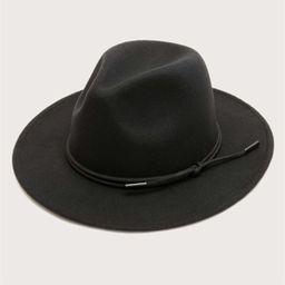 Solid Knot Decor Fedora Hat | SHEIN