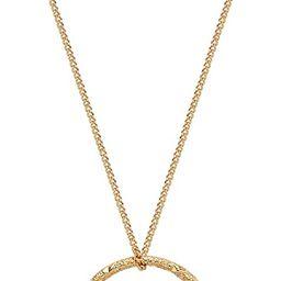 Fettero Women Moon Necklace Hammered Coin Full Karma Circle New Crescent Moon Phase Pendant Daint... | Amazon (US)