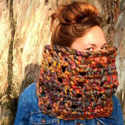 Colorful Cowl Scarf. Chunky / Funky / Rainbow / SALE!   Etsy (US)
