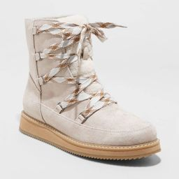 Women's Amari Sport Bottom Lace Up Hiking Boots - Universal Thread™ Taupe | Target