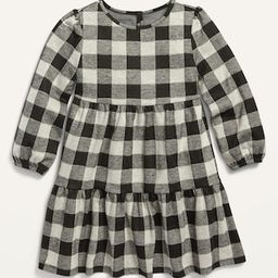 Plaid Tiered Swing Dress for Toddler Girls | Old Navy (US)