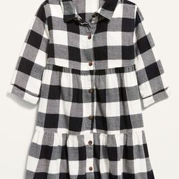Plaid Tiered Shirt Dress for Toddler Girls | Old Navy (US)