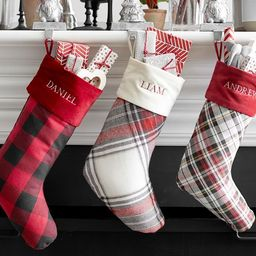 Plaid Personalized Stockings | Pottery Barn (US)
