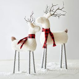 Sherpa Reindeer - Set of 2 | Pottery Barn (US)
