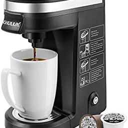 CHULUX Single Serve Coffee Maker Brewer for Single Cup Capsule with 12 Ounce Reservoir,Black | Amazon (US)