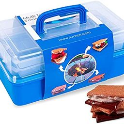 SUMPRI Smores Caddy -TWO FOLDING TRAYS Smore storage Box (Does NOT Include Skewers) Keeps Your Ma... | Amazon (US)
