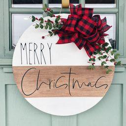 Christmas Door Hanger | Merry Christmas | Holiday Decor | Christmas Door Sign | Door Decor | Mode... | Etsy (US)