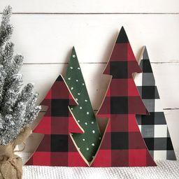 Buffalo Check Christmas tree | Buffalo check Christmas decor | Farmhouse Christmas decor | Buffal... | Etsy (US)