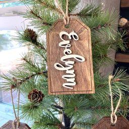Christmas Stocking Name Tags, Wooden Name Tags, Personalized Wood Tags, Stocking Tags, Gift Tags,... | Etsy (US)