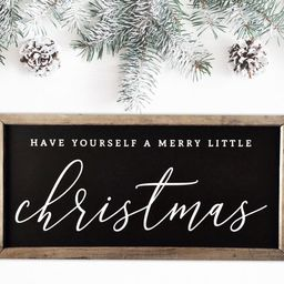 Have Yourself a Merry Little Christmas, Merry Christmas Sign, Wood Christmas Signs, Farmhouse Hol... | Etsy (US)