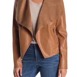 Drape Faux Leather & Faux Suede Jacket | Nordstrom Rack