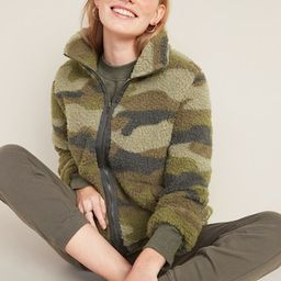 Cozy Sherpa Zip-Front Jacket for Women | Old Navy (US)