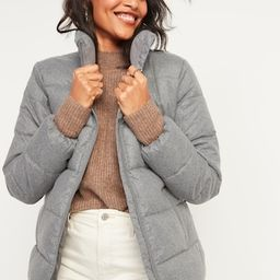 Frost-Free Textured Puffer Zip Jacket for Women | Old Navy (US)