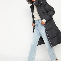 Frost-Free Long Hooded Puffer Jacket for Women | Old Navy (US)