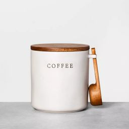 Stoneware Coffee Canister with Wood Lid & Scoop - Hearth & Hand™ with Magnolia | Target