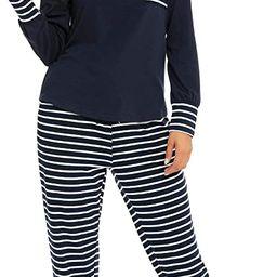 Adeleloth Womens Striped Pajamas Sets Long Sleeve Sleepwear with Long Pants Soft Loungewear Pj Se...   Amazon (US)
